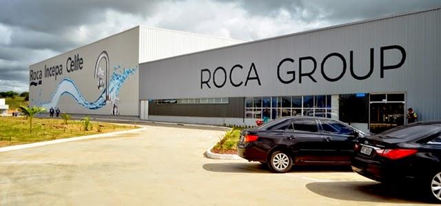 Com investimentos de r 44 milh es grupo roca inaugura for Fabrica de sanitarios roca