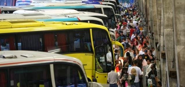 Tarifa de embarque aumenta domingo em seis terminais rodoviários