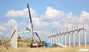Obras de construção da Docile. (Foto: Thyago Leão/Blog Nossa Vitória)